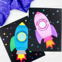 2 rocket father's day card crafts