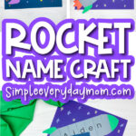 rocket ship name craft image collage with the words rocket name craft in the middle