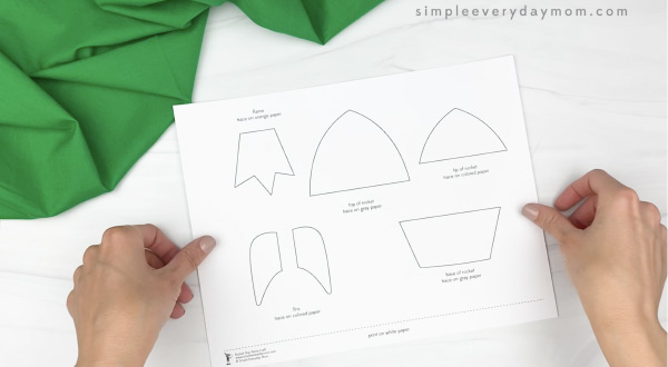 hand holding name rocket craft template
