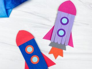 2 popsicle stick rockets