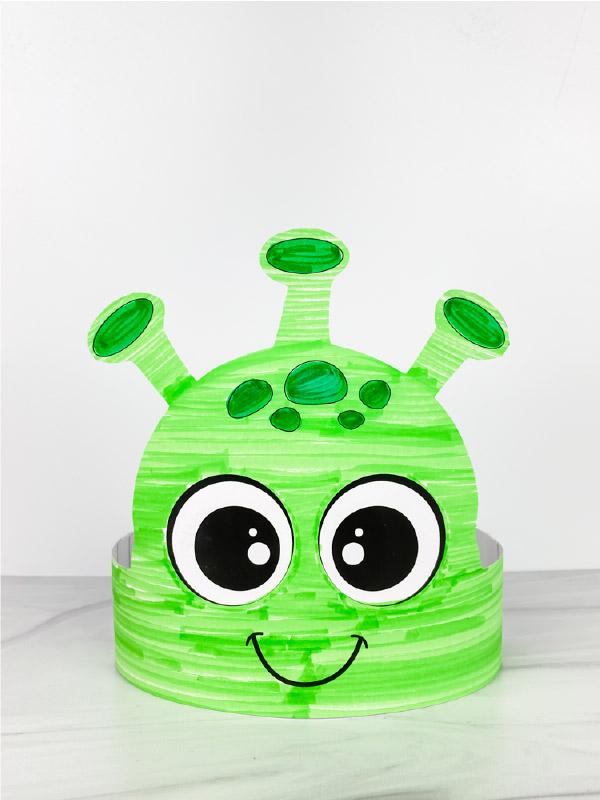 green alien headband craft