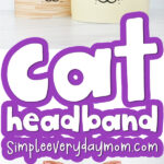 cat headband craft craft image collage with the words cat headband in the middle