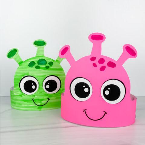 2 alien headband crafts