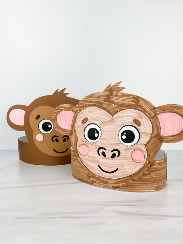 2 monkey headband crafts