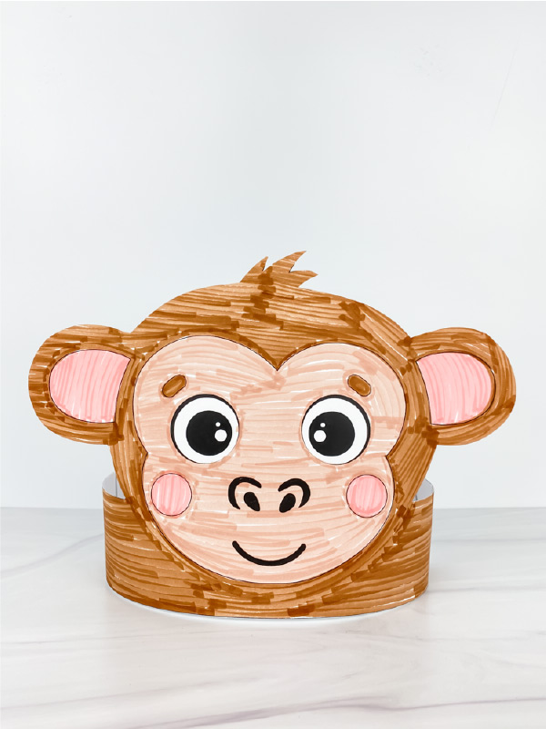 printable monkey headband craft