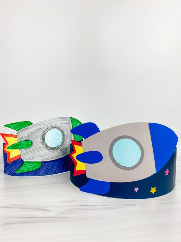 2 rocket headband crafts