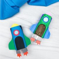 2 toilet paper roll rocket crafts