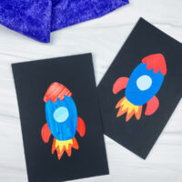 cut and paste rocket crafts
