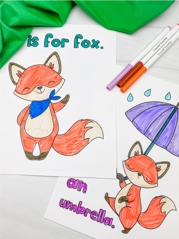 fox coloring page image