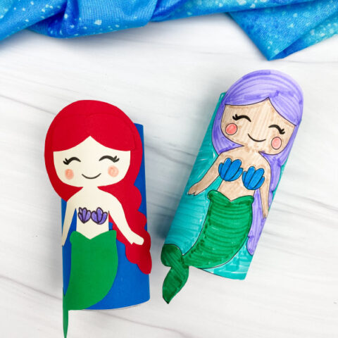 Mermaid Toilet Paper Roll Craft For Kids