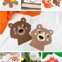 camping craft image collage