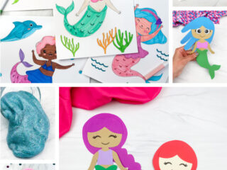 mermaid activities for kids image collage