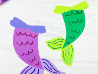 2 mermaid tail crafts
