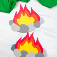 2 paper campfire crafts