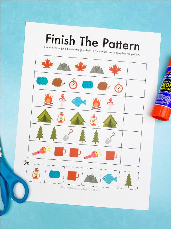 camping pattern worksheet