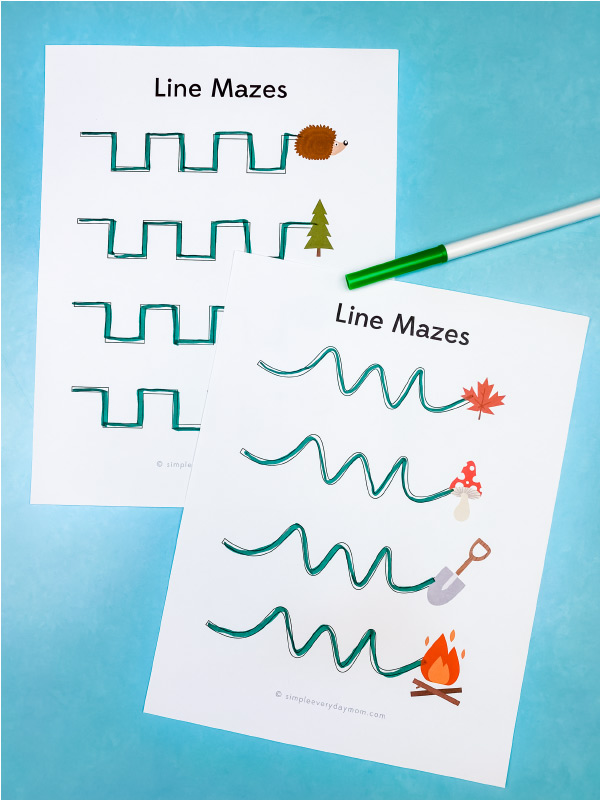 camping line mazes