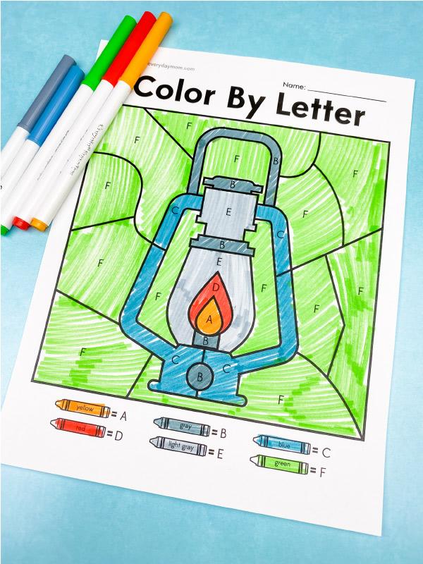 lantern color by letter