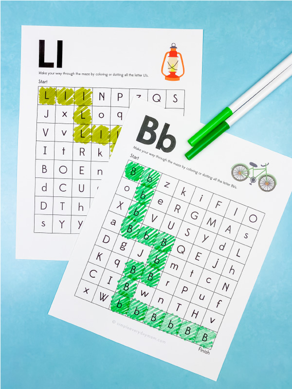 camping letter mazes
