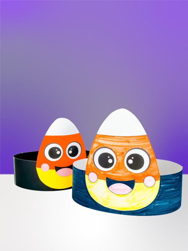 2 candy corn headband crafts