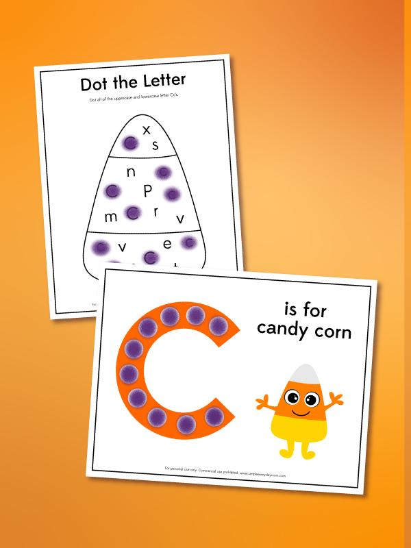 candy corn dot marker printables