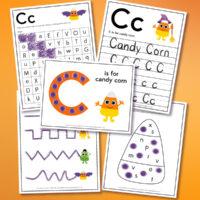 candy corn worksheets mockup