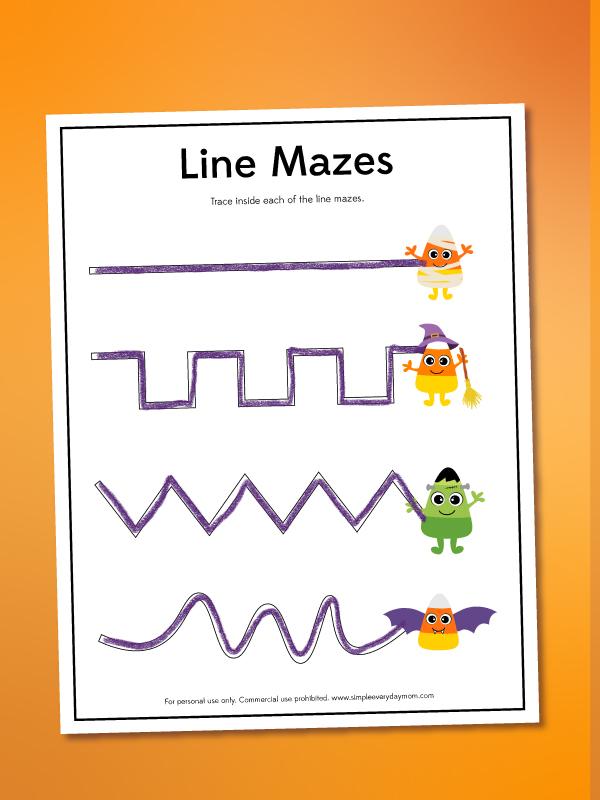 candy corn line maze