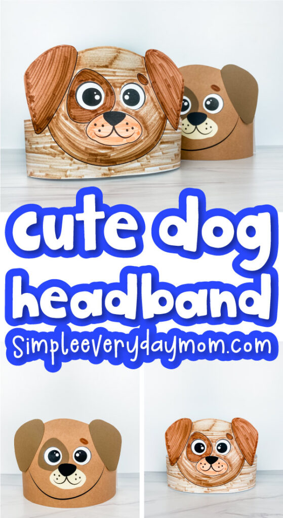 dog headband craft image collage with the words cute dog headband in the middle