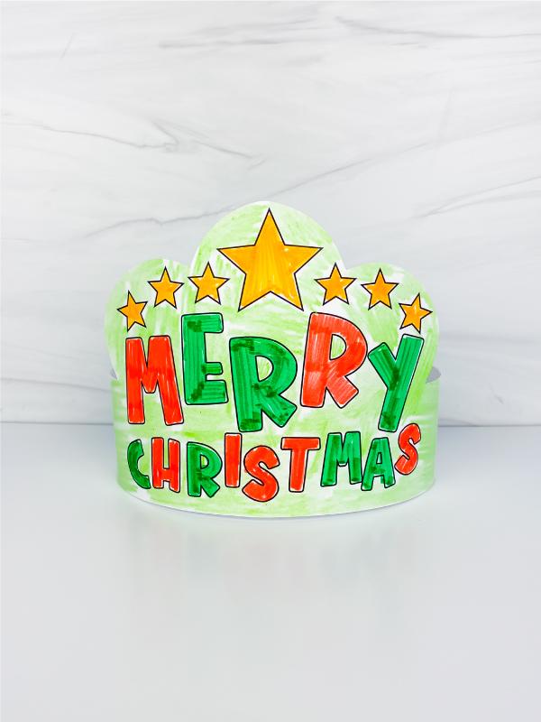 Merry Christmas coloring page headband