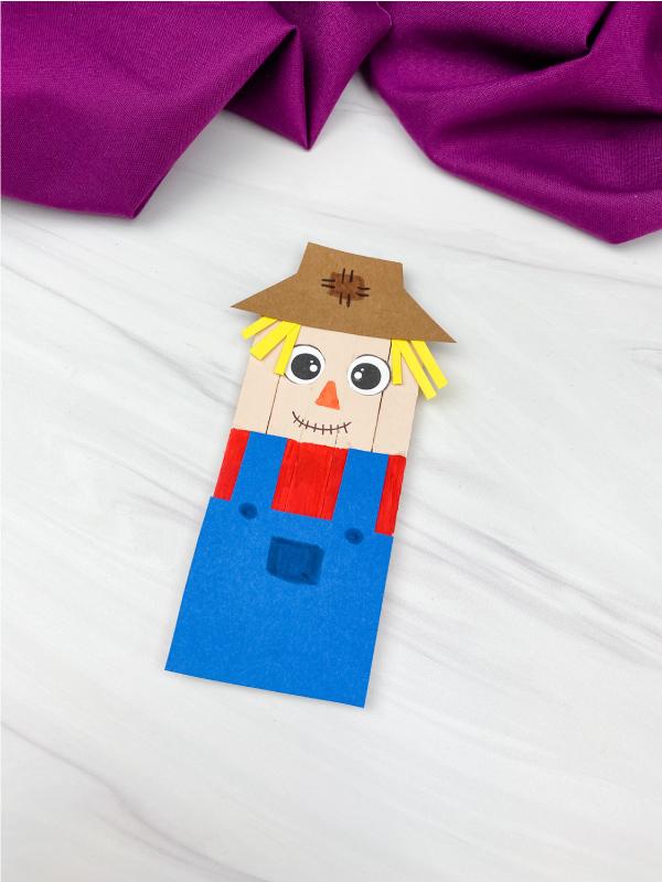 popsicle stick scarecrow craft