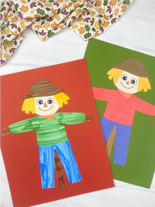 2 printable scarecrow crafts