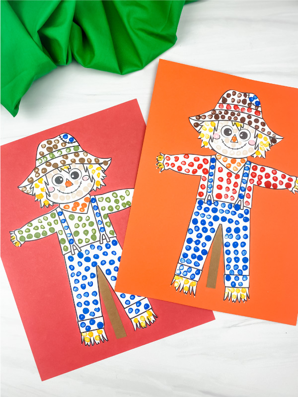 2 scarecrow art projects