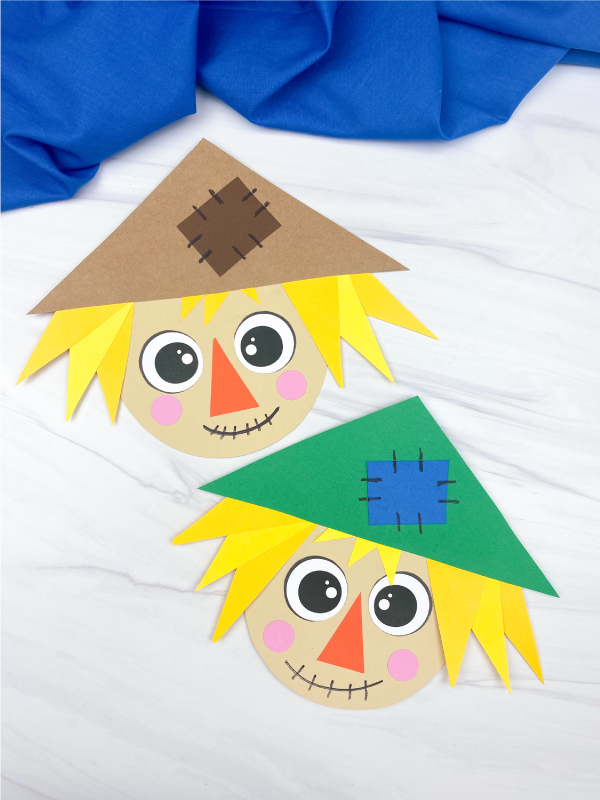 2 shape scarecrow crafts