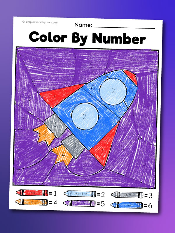 rocket color by number