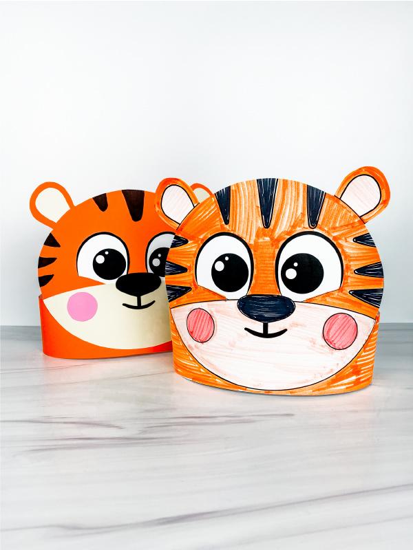 two tiger headband crafts