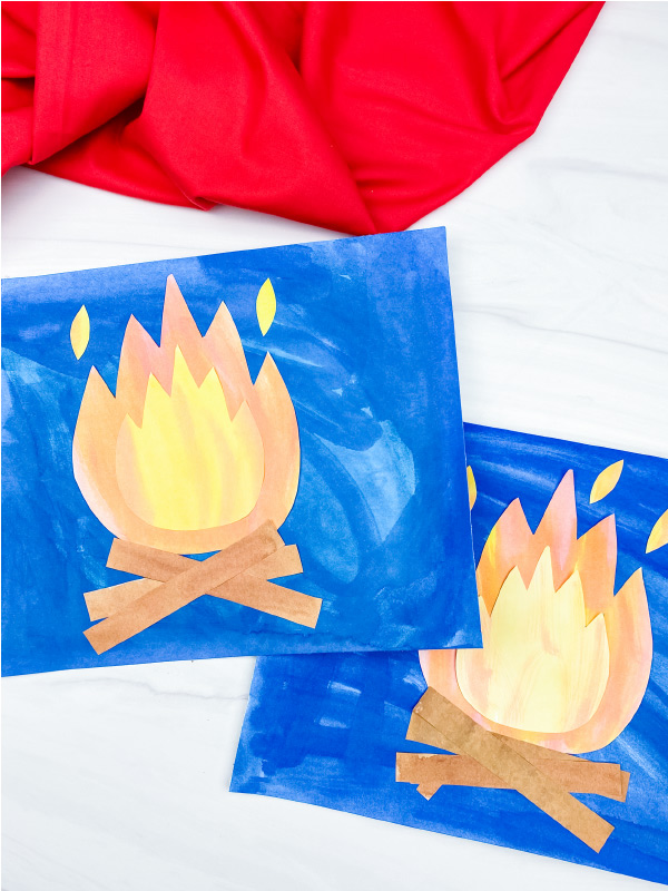 2 campfire art projects