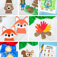 camping activities for kids image collage
