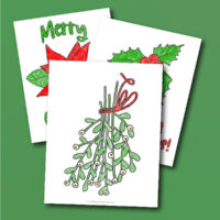 Christmas plant coloring pages