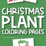 christmas plant coloring page images with the words christmas plant coloring pages in the middle