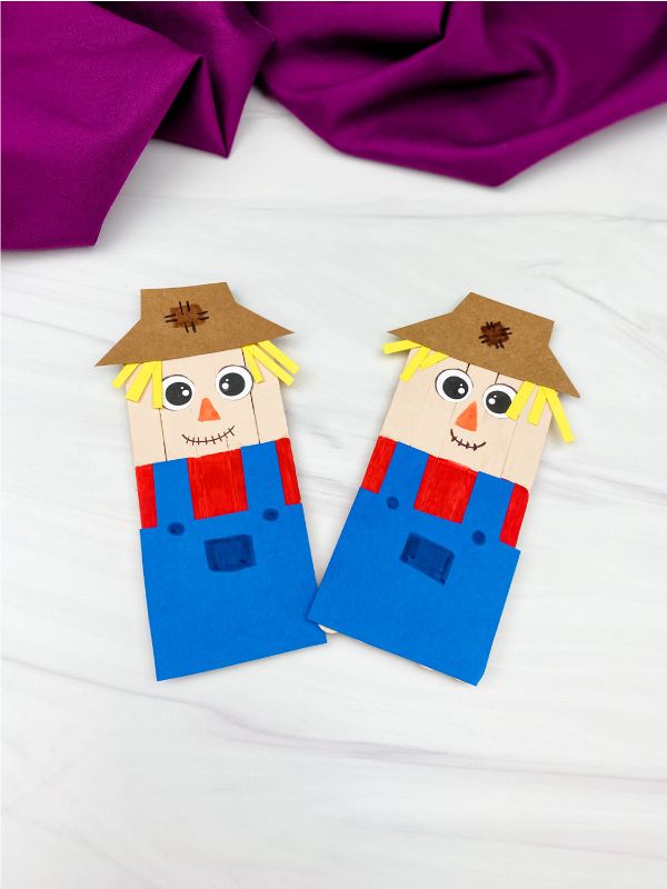 2 popsicle stick scarecrow crafts