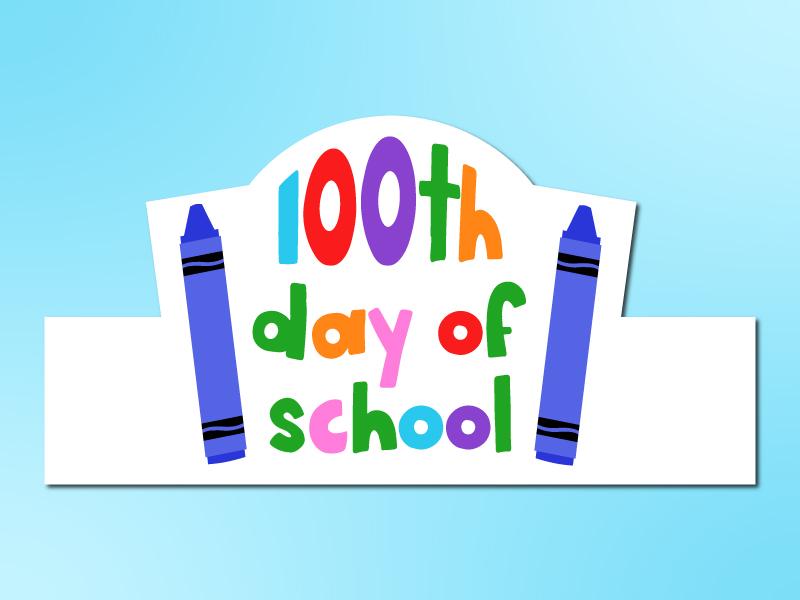 100th day of school headband mockup