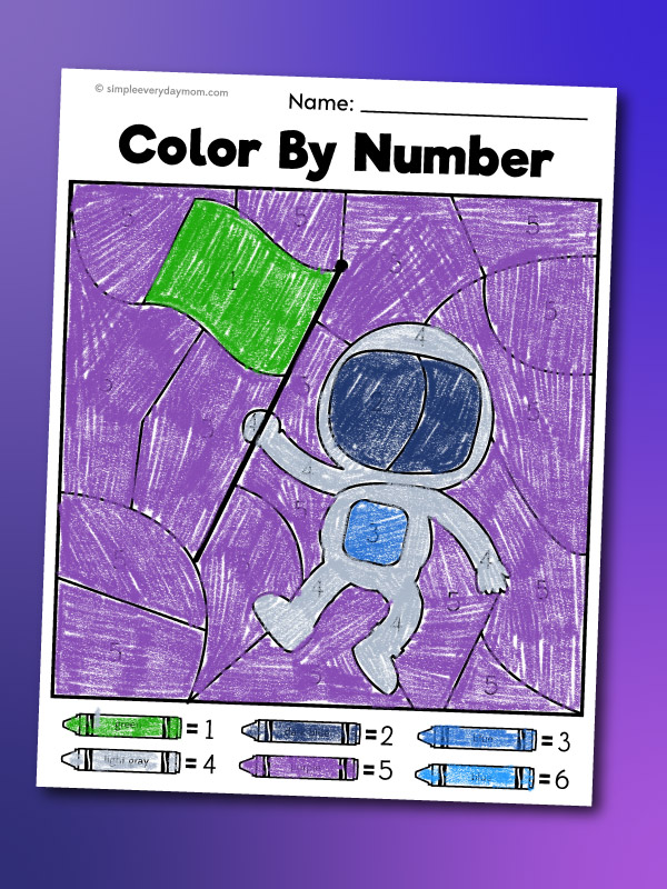 astronaut color by number