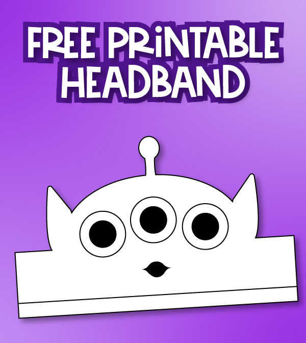 printable alien headband craft