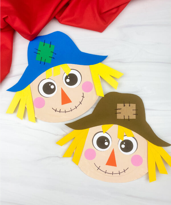 2 paper plate scarecrow crafts