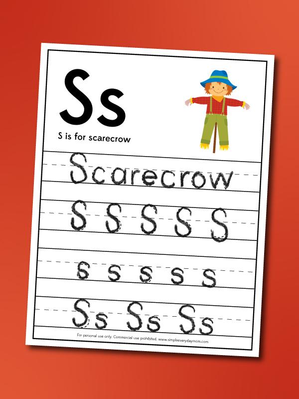 scarecrow handwriting worksheet