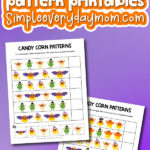 candy corn pattern printables with the words free printable candy corn pattern worksheets