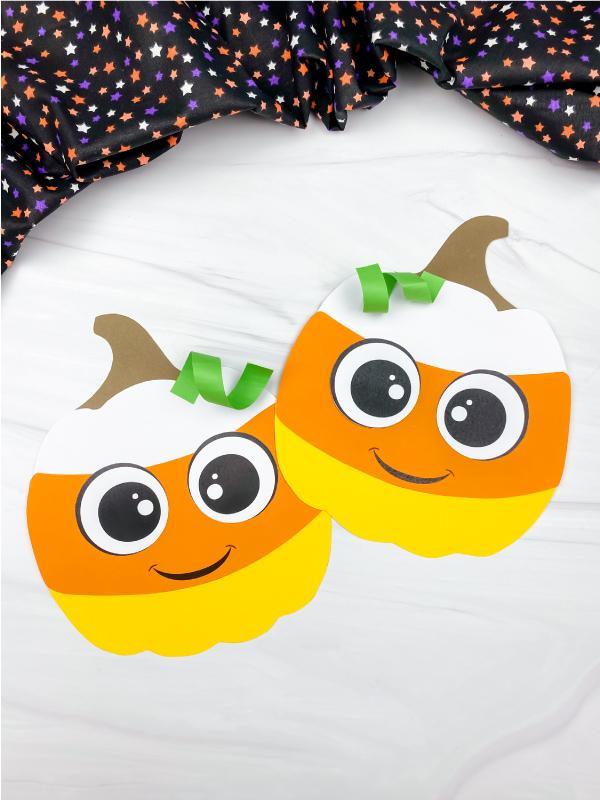 2 candy corn pumpkin crafts