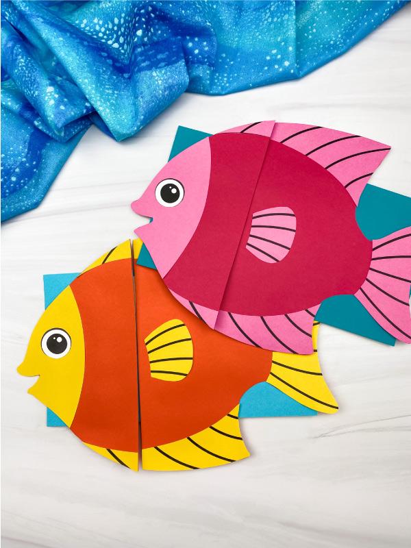 2 fish paper bag puppet crafts