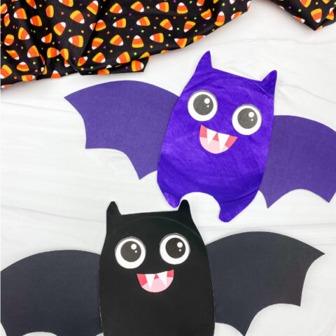 Paper Plate Bat Craft For Kids [Free Template]