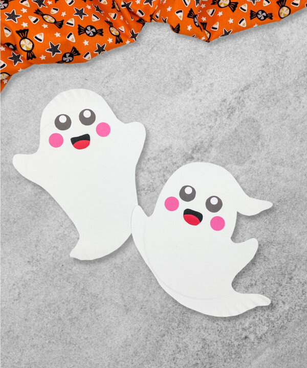 2 paper plate ghosts