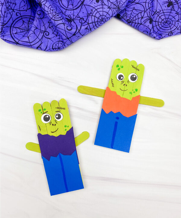 2 popsicle stick zombies